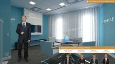 Espace Salon de Réception réalisé dans le cadre de la Visite virtuelle du pôle LCL Banque Privée