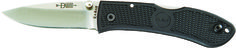 """KA-BAR 4072-This knife features an AUS 8A SS stainless steel 2 1/4"""" blade, a thumb stud in blade for easy one hand opening, and a reversible pocket clip so it can be carried on the belt, in the pocket, or adjusted to left or right hand users. The knife has an overall open length measurement of 5 3/4"""" and has a lockback safety lock system to protect against accidental closure during use. This knife has a blade hardness rating of HRC 56-58CR which has been hollow ground. www.tomarskabars.com"""