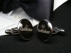 The Godfather Cufflinks - These cuff links are the ideal gift for the godfather for a wedding or special occasion. by UpscaleTrendz on Etsy https://www.etsy.com/listing/153783445/the-godfather-cufflinks-these-cuff-links