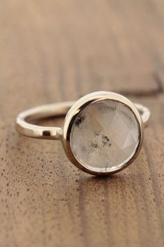 grey diamond slice ring / melissa joy manning