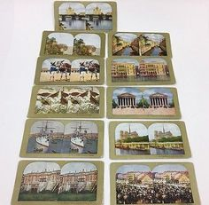 Stereoview Cards World Scenes Lot of 11 Warsaw, Paris, Venice, Moscow, USA +More  | eBay