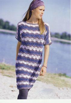 Платье с целььновязаными рукавами