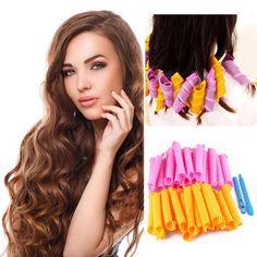 24 unids orange rosa bigudíes de pelo grueso base DIY rizador de Pelo rizador herramientas de Peinado rizos hermosos 100% A ESTRENAR