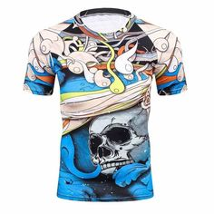 3D Compression Fitness Quick Dry T-Shirt