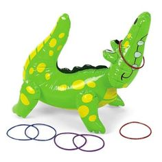 Amazon.com: Inflatable Alligator Ring Toss Game: Toys & Games / / jungle party
