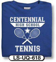 72e38a5a8 Design Custom Tennis T-Shirts Online by Spiritwear Tennis Shirts, Spirit  Shirts, Sports