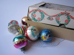 Vintage Shiny Brite Poland Glass Christmas Ornament Collection of 18~~