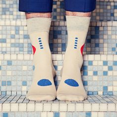 von Jungfeld Socke Kojima Designkollektion 'Blaustich'  #streetstyle #menstyle #accessories #mensocks #colorfulsocks