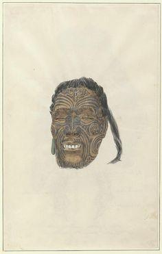 Digital Collections - Pictures - Robley, Horatio Gordon, Maoris, New Zealand, Polynesian People, Air New Zealand, Maori Art, Face Tattoos, Male Face, Hair Cut, Concept Art, Lion Sculpture, Statue