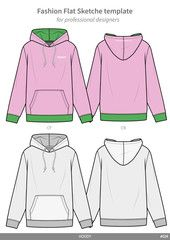 ZIP-UP HOODY fashion flat technical drawing template - Buy this stock vector and explore similar vectors at Adobe Stock Zip Up Sweater, Sweater Hoodie, Hoody, Flat Drawings, Flat Sketches, Drawing Templates, 3 Piece Suits, Drawing Clothes, Technical Drawing