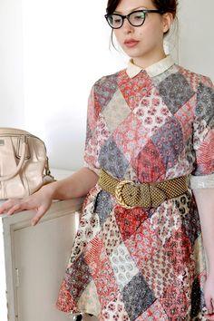 Patch work dress