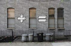Clever mathematical street art by Aakash Nihalani.