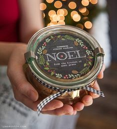 Free Christmas Printable Labels for edible gifts by Lia Griffith