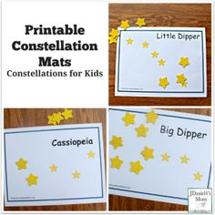 Printable Constellation Mats Constellations for Kids Featured