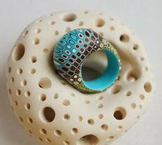 Ring by SOLAR BIRD | Polymer Clay Planet