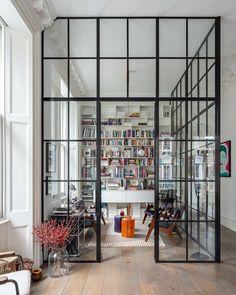 "L U X R E V I V E on Instagram: ""Rate this home office from 1-10! 😍 Design @michaelisboyd I Photo @gavriilux #luxrevive"" Casa Loft, Loft House, Farm House, Home Office, Interior Exterior, Interior Architecture, Houzz, Kensington And Chelsea, London Apartment"