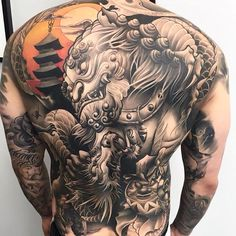 Japanese Back Tattoo Art -