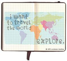 Explore dream discover, travel quotes, places to travel, oh the places you& Oh The Places You'll Go, Places To Travel, Travel Things, Travel Stuff, Notebook Doodles, Explore Dream Discover, I Want To Travel, Travel Bugs, Vintage Travel Posters