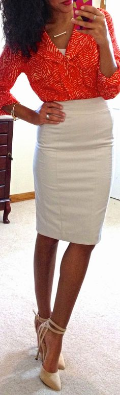 Hello, Gorgeous!: threads.  I like the skirt length here. I am tall and I prefer skirts at my knee or just above, but not more than an inch or so