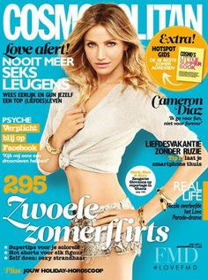 Cover with Cameron Diaz July 2011 of NL based magazine Cosmopolitan Netherlands including details. Halle, There's Something About Mary, Princess Fiona, Gangs Of New York, Bad Teacher, Kiss Images, Cosmopolitan Magazine, Best Friend Wedding, Cameron Diaz