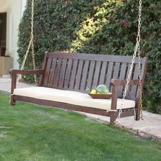 Image of: Outdoor porch swing brown