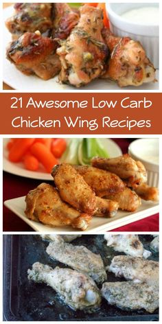 All the best low carb chicken wing recipes gathered together in one place. Perfect for your healthy Super Bowl party. One thing you may not know about me is that I am obsessed with chicken wings. N...