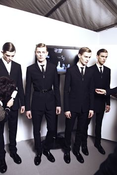DIOR HOMME AW13 BACKSTAGE ph HARRY CARR