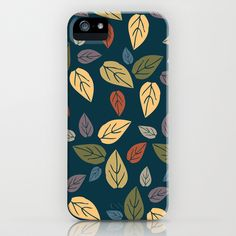 pattern leaves iPhone & iPod Case by aticnomar - $35.00