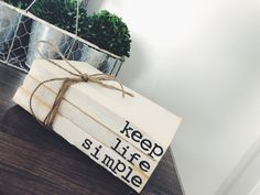 Excited to share the latest addition to my shop: Keep life simple / premade stamped books / stamped book set / personalized books / unbound books / farmhouse decor / book stack / book lover Farmhouse Books, Farmhouse Decor, Old Book Crafts, Keep Life Simple, Stack Of Books, Personalized Books, Old Books, Paper Shopping Bag, Book Lovers
