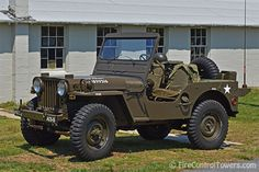 Restored Willys Army Jeep at Fort Miles