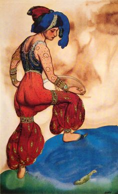 Leon Bakst. Costume of the Red Sultana. The season of 1910. Scheherazade. Music by N. Rimski-Korsakov