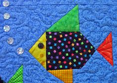 Best 12 Swimmies Quilt Pattern by Lisa Boyer Fish Quilt Pattern, Baby Quilt Patterns, Modern Quilt Patterns, Pattern Blocks, Owl Patterns, Sewing Patterns, Owl Quilts, Cute Quilts, Animal Quilts