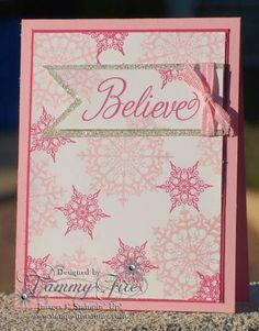 Stampin Up Christmas Cards   snowflake soire - stampin up   Christmas Cards