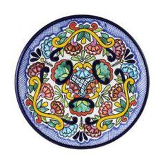 Tomas Huerta Talavera Plate - Pattern 40 ♥️♣️♣️Talavera Mexican Pottery : More At FOSTERGINGER @ Pinterest ♣️