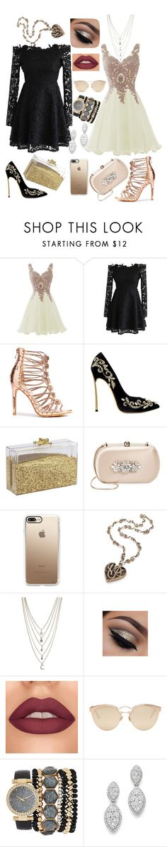 """83"" by andreea-narcisa-obreja on Polyvore featuring Chicwish, Badgley Mischka, Casetify, Ettika, Christian Dior, Jessica Carlyle and Bloomingdale's"