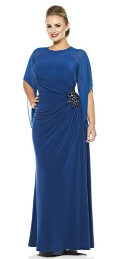 Plus Size evening gowns | Plus size jersey evening dress Evening Dress Pretty Prom Dresses, Lovely Dresses, 15 Dresses, Prom Dresses 2017, Fashion Dresses, Formal Dresses, Party Dresses, Plus Size Gowns, Plus Size Evening Dresses