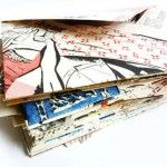 magazines turned envelopes