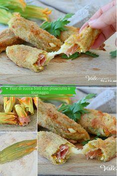 FIORI DI ZUCCA AL FORNO con prosciutto e formaggio