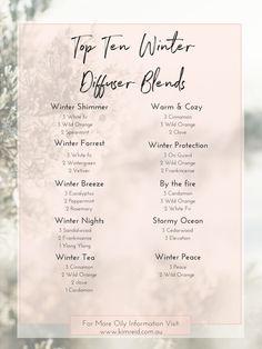 Top Ten Winter Diffuser Blends — Kim Reid