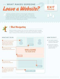 What Makes Someone Leave a website? Infographic from http://imgs.abduzeedo.com