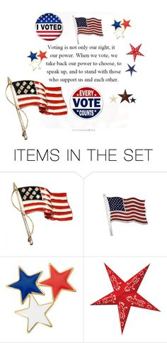 """""""VOTE"""" by patchworkcrafters ❤ liked on Polyvore featuring art"""