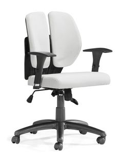 Modern Furniture - Zuo - Aqua Office Chair White PU - Modern and Contemporary Furniture for the Modern Lifestyle