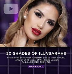 Make Up Hot and #New: Watch Sarah Rock The Vice #ILUVSARAHII #URBANDECAY #VICELIQUIDLIPSTICK