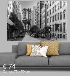Adams Street In Dumbo Brooklyn New York van Kurt Krause Brooklyn New York, New York City, Love Seat, Van, Wall Art, Street, Canvas, Prints, Decor
