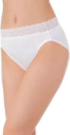 Vanity Fair Flattering Lace Cotton High Cut Panty 13395 d2227b8f9