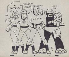 Fantastic Four Model sheet by Toth Comic Art