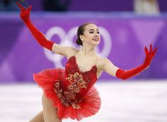 Alina Zagitova, an Olympic Athlete from Russia, competes.
