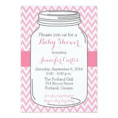 467 best mason jar baby shower invitations images on pinterest mason jar baby shower invitations girl chevron card filmwisefo
