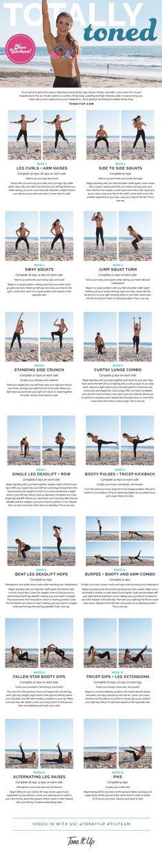 New Bikini Series Workout Video ~ Gettin' TOTALLY TONED with Katrina on ToneItUp.com!