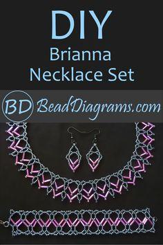 Diy Jewelry, Beaded Jewelry, Beading Patterns Free, Bugle Beads, Cute Earrings, Necklace Set, Matching Set, Video Tutorials, Bracelets